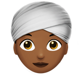 Woman Wearing Turban: Medium-Dark Skin Tone on Apple iOS 13.1
