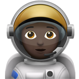 Astronaut: Dark Skin Tone on Apple iOS 13.2