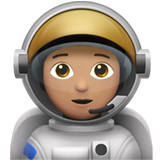 Astronaut: Medium Skin Tone on Apple iOS 13.2