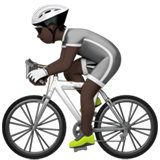 Person Biking: Dark Skin Tone on Apple iOS 13.2