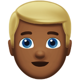 Man: Medium-Dark Skin Tone, Blond Hair on Apple iOS 13.2