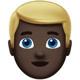 Man: Dark Skin Tone, Blond Hair on Apple iOS 13.2