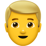 Man: Blond Hair on Apple iOS 13.2