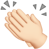 Clapping Hands: Light Skin Tone on Apple iOS 13.2
