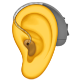 Ear With Hearing Aid on Apple iOS 13.2