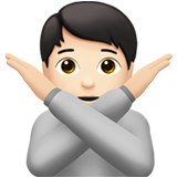 Person Gesturing No: Light Skin Tone on Apple iOS 13.2