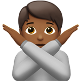Person Gesturing No: Medium-Dark Skin Tone on Apple iOS 13.2