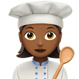 Woman Cook: Medium-Dark Skin Tone on Apple iOS 13.2