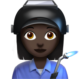 Woman Factory Worker: Dark Skin Tone on Apple iOS 13.2