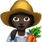 Woman Farmer: Dark Skin Tone on Apple iOS 13.2