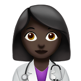 Woman Health Worker: Dark Skin Tone on Apple iOS 13.2