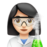 Woman Scientist: Light Skin Tone on Apple iOS 13.2