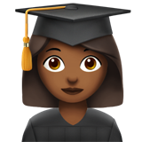 Woman Student: Medium-Dark Skin Tone on Apple iOS 13.2