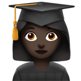 Woman Student: Dark Skin Tone on Apple iOS 13.2