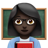 Woman Teacher: Dark Skin Tone on Apple iOS 13.2
