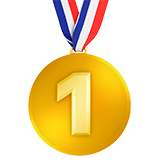 1st Place Medal on Apple iOS 13.2