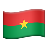 Flag: Burkina Faso on Apple iOS 13.2