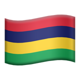 Flag: Mauritius on Apple iOS 13.2
