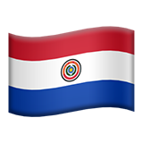 Flag: Paraguay on Apple iOS 13.2