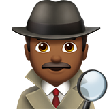 Man Detective: Medium-Dark Skin Tone on Apple iOS 13.2