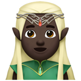 Man Elf: Dark Skin Tone on Apple iOS 13.2