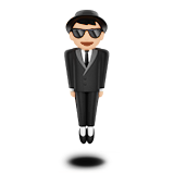 Person in Suit Levitating: Light Skin Tone on Apple iOS 13.2