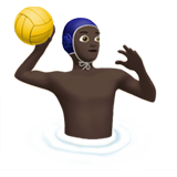 Man Playing Water Polo: Dark Skin Tone on Apple iOS 13.2