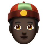 Person With Skullcap: Dark Skin Tone on Apple iOS 13.2