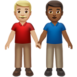 Men Holding Hands: Medium-Light Skin Tone, Medium-Dark Skin Tone on Apple iOS 13.2