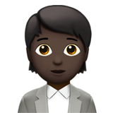Office Worker: Dark Skin Tone on Apple iOS 13.2
