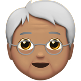 Older Person: Medium Skin Tone on Apple iOS 13.2