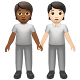 People Holding Hands: Medium-Dark Skin Tone, Light Skin Tone on Apple iOS 13.2