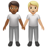 People Holding Hands: Medium-Dark Skin Tone, Medium-Light Skin Tone on Apple iOS 13.2