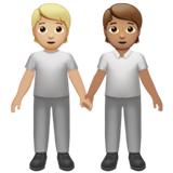 People Holding Hands: Medium-Light Skin Tone, Medium Skin Tone on Apple iOS 13.2
