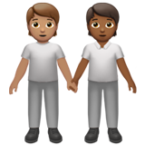 People Holding Hands: Medium Skin Tone, Medium-Dark Skin Tone on Apple iOS 13.2