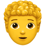 Person: Curly Hair on Apple iOS 13.2