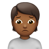 Person Frowning: Medium-Dark Skin Tone on Apple iOS 13.2