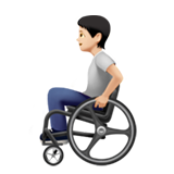 Person in Manual Wheelchair: Light Skin Tone on Apple iOS 13.2