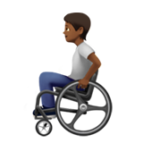 Person in Manual Wheelchair: Medium-Dark Skin Tone on Apple iOS 13.2