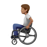 Person in Manual Wheelchair: Medium Skin Tone on Apple iOS 13.2