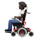 Person in Motorized Wheelchair: Dark Skin Tone on Apple iOS 13.2
