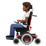 Person in Motorized Wheelchair: Medium-Dark Skin Tone on Apple iOS 13.2