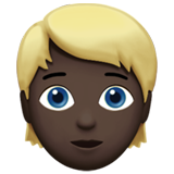 Person: Dark Skin Tone, Blond Hair on Apple iOS 13.2