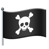 Pirate Flag on Apple iOS 13.2