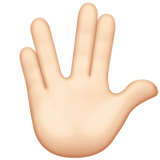 Vulcan Salute: Light Skin Tone on Apple iOS 13.2