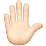 Raised Hand: Light Skin Tone on Apple iOS 13.2
