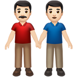 Men Holding Hands: Light Skin Tone on Apple iOS 13.2