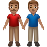 Men Holding Hands: Medium Skin Tone on Apple iOS 13.2