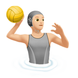 Person Playing Water Polo: Light Skin Tone on Apple iOS 13.2