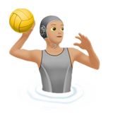 Person Playing Water Polo: Medium-Light Skin Tone on Apple iOS 13.2